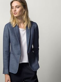 A hard-working woman can never get enough blazers in her life. Massimo Dutti obsession, work chic and horseback girl style. #love