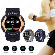 64.86$  Buy now - http://alial5.worldwells.pw/go.php?t=32767691649 - 1pc women men watches clocks gift Sport Smart Watch Bluetooth G-sensor Heart Phone Waterproof for iOS Smart Rate H1