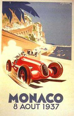 Monaco 8 août 1937 Grand Prix Automobile by Geo Ham (1935)