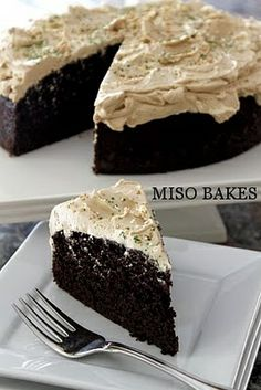Guiness and chocolate cake with coconut buttercream and whiskey!
