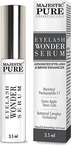 ec60f125636 Majestic Pure Eyelash Growth Serum From - Cutting Edge Myristoyl & Swiss  Apple Stem Cells Based Formula for Thicker & Longer Eyelashes and Eyebrows  - by ...