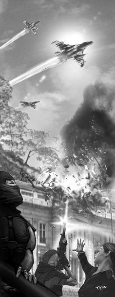 Shadowrun WAR bombing by raben-aas.deviantart.com on @deviantART