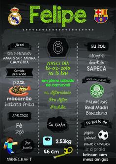 Chalkboard ou Quadro Negro tema futebol Banner Digital, Wish Box, Soccer Party, Xbox, Chalkboard, Anniversary, Lettering, Football Themes, Soccer Birthday Parties
