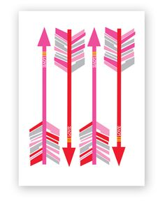 arrows  valentine's day card