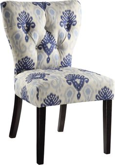 Ave Six Andrew Chair in Medallion Ikat Blue Fabric, AND-M13 by Office Star Products   BizChair.com