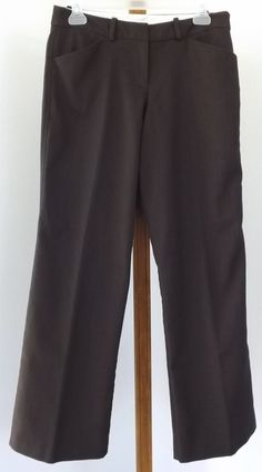 Worthington Dress Pants Size 6P Brown Black Herringbone Stretch Womens Petite #Worthington #DressPants