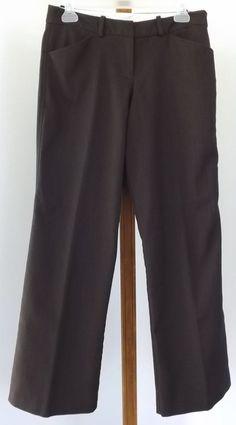 Worthington Dress Pants Size 6P Brown Black Herringbone Stretch Womens Petite #Worthington #DressPants