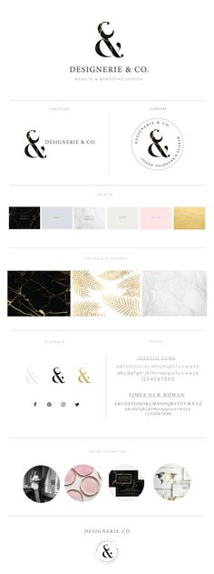 Branding board for Designerie & Company. Final Brand style board, Designerie is a Web design and Brand design Company. Designerie Designs Female Entrepreneur, They make professional website and brand design for entrepreneur who wants to take their business into the next level and want to have a luxurious and elegant branding design.