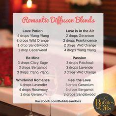 Romantic Diffuser Blends