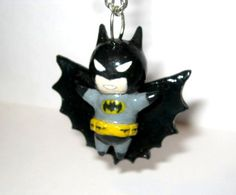 Polymer Clay Chibi Batman Charm on Etsy, $25.00