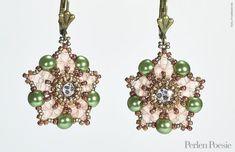Free Peyote Stitch Earring Pattern that includes diagrams--Ancient Stars Earrings - Silke Steuernagel | Freebies | Perlen Poesie