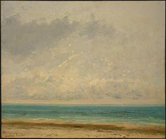 'Calm Sea', 1866 von Gustave Courbet (1819-1877, France)