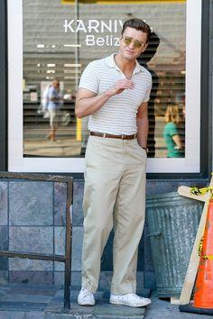 O visual 50s de Justin Timberlake no novo filme de Woody Allen (Foto: AKM-GSI)