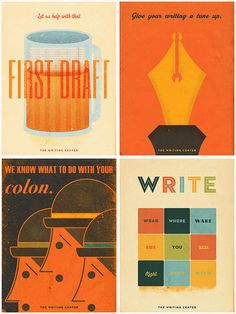 Writing Center Posters by jamesplankton, via Flickr