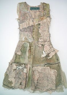 Take From Away, a dress made of printed paper by Louise Richardson