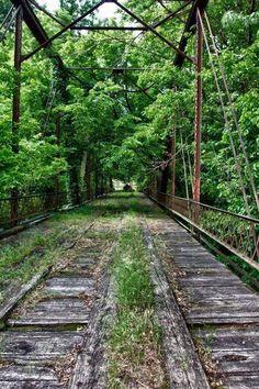 Abandoned Rail Bridge, Avant, Oklahoma.