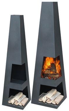 Garten Feuerstelle Sanga XL Black Steel