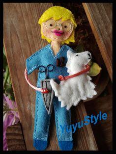 Yuyu Style _ Macramé y más: Peluquera canina y enfermeras de fieltro!!!!!!