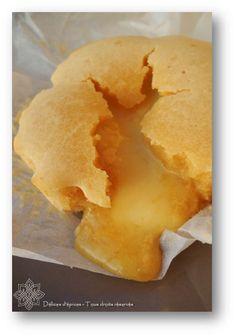 Moelleux citron-amande, coeur coulant de lemon curd
