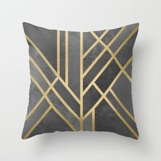Art+Deco+Geometry+1+Throw+Pillow+by+Elisabeth+Fredriksson+-+$20.00
