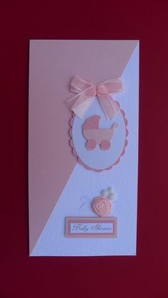 Hand Made Baby Shower Card for Girl Bebe Shower, Handmade Card Making, Scrapbook Cards, Scrapbooking, New Baby Cards, Beautiful Handmade Cards, Baby Shower Cards, Pretty Cards, Fossil Jewelry