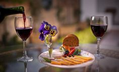 "RezStream Food Photography by Joe Jenkin- ""Afternoon wine at 1906 Lodge at Coronado Beach"""