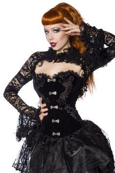 Bolero aus Spitze schwarz Gothic Hexe Vampir Trompetenärmel S M L XL in Kleidung & Accessoires, Damenmode, Jacken & Mäntel | eBay