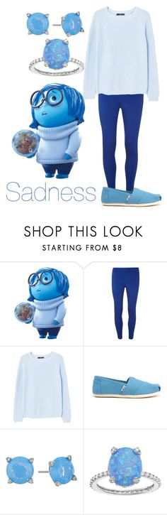 """""""Sadness"""" by princessestrada ❤ liked on Polyvore featuring Dorothy Perkins, MANGO, TOMS, Vera Bradley and SOPHIE MILLER"""