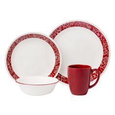 Cordoba 16 Piece Dinnerware Set, Service for 4 Corelle Dinnerware Sets Walmart, Dinnerware Sets For 12, Square Dinnerware Set, White Dinnerware, Stoneware Dinnerware, Stoneware Mugs, Corelle Patterns, Plates And Bowls, Vintage Glassware