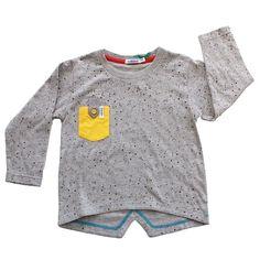 Indikidual Mooncake Pocket top In Grey Marl/Yellow   Scandinavian Minimall