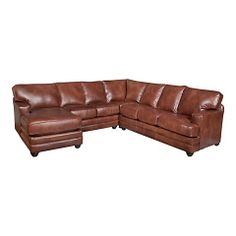 HGTV HOME Custom Upholstery Large U-Shaped Sectional - Leather #bassettfurniture #sectional