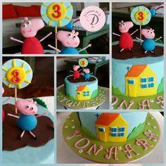 Pepa Pig Themed Birthday_ BakesByD https://www.facebook.com/BakesByD/