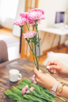 removing leaves, how to arrange flowers