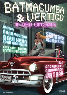 Batmacumba + Vertigo in New Orleans by Clint Studio, via Behance
