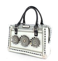 Nicole Lee Retro Flower Burst Handbag
