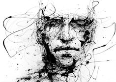 agnes cecile 01 650x461 Powerful Dripping Paint Portraits by Agnes Cecile