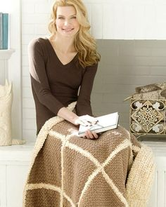 Best Free Crochet » Free Faux Shearling Throw Crochet Pattern from RedHeart.com