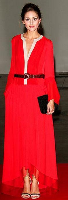 Olivia Palermo.  Dress - BCBG Max Azria, Shoes - Boutique 9, Jewelry - Carrera y Carrera