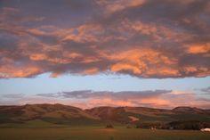 Le comté de Walla Walla - Coucher de soleil