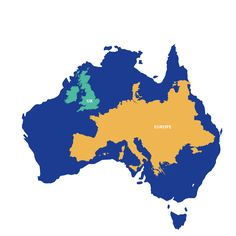 Campervan Hire Australia - UK Guide to Campervans in Australia World Geography, Geography Map, Campervan Hire Australia, Map Geo, World Empire, I Love School, Uk History, Australia Map, Flags Of The World