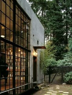 """""""The Brain"""" cinematic laboratory by Olsen Sundberg Kunding Allen Architects. Not so small... but cool. We're pretty sure we'd have no problem feeling inspired enough to get work done in this 14,280-cubic foot concrete box in Seattle."""