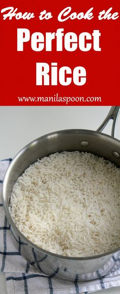 Tried and tested, best and easiest way to cook the perfect rice every time! No more guessing game!