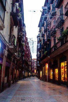 Bummel auf den leeren Straßen von Bilbao am Neujahrstag
