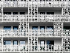 huttunen lipasti pakkanen arkkitehdit perforates facade of saukonpaasi project in helsinki, finland
