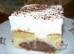 Recept Pudinkově šlehačkový zákusek Custard, Vanilla Cake, Tiramisu, Cheesecake, Deserts, Food And Drink, Cooking, Ethnic Recipes, Whipped Cream