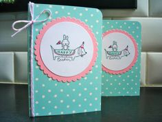 Dog Easter Card Handmade Greeting Card for Easter by apaperaffaire