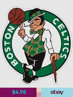Decorative Decals Sports Mem, Cards & Fan Shop Sports Teams, Basketball Teams, Sports Logos, Celtics Basketball, Sports Posters, White Basketball Shoes, Basketball Tattoos, Basketball Party, Basketball Socks