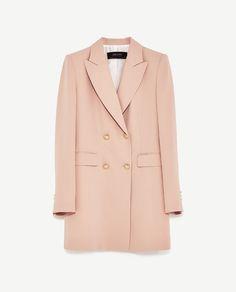 FROCK COAT DRESS from Zara in nude pink   under $100