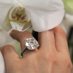 Graff 6 carat cushion-cut diamond engagement ring