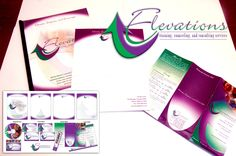 Elevations corporate identity and collateral.